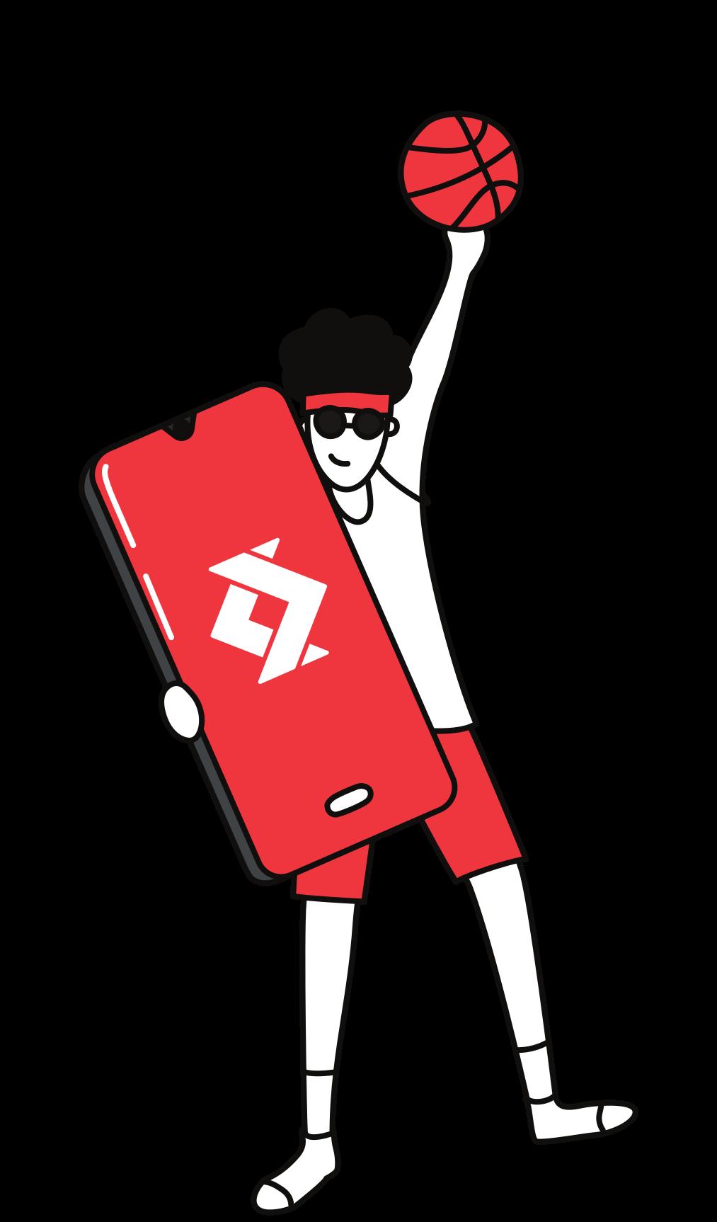 Illustration d'une personne tenant un smartphone avec le logo de satispay 3