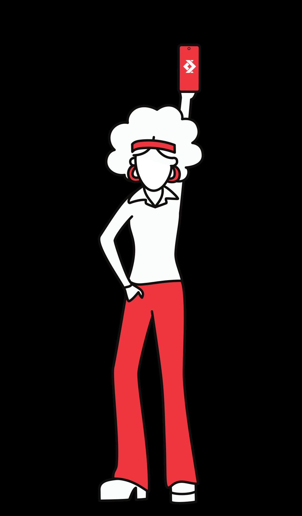 Illustration d'une personne tenant un smartphone avec le logo de satispay 2