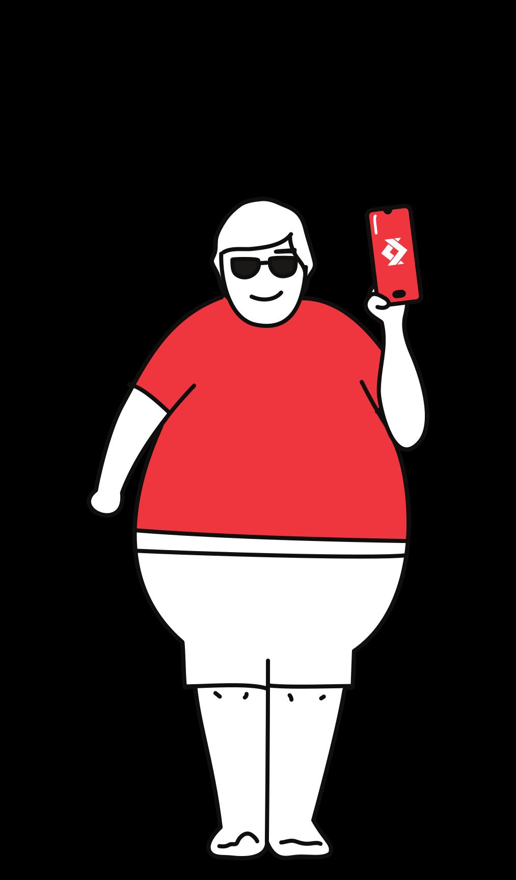Illustration d'une personne tenant un smartphone avec le logo de satispay 1